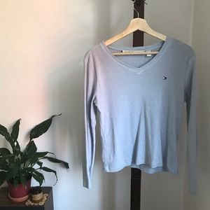 Long Sleeve V-neck Tommy Hilfiger Shirt